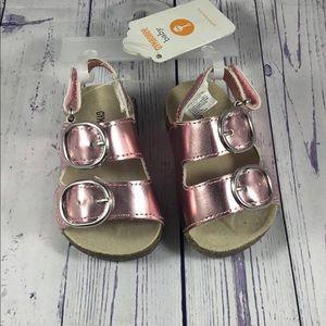 Gymboree size 1 newborn  rose gold sandals NWT